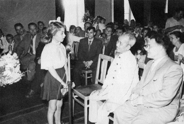 1956 Президент Вьетнама Хо Ше Мин
